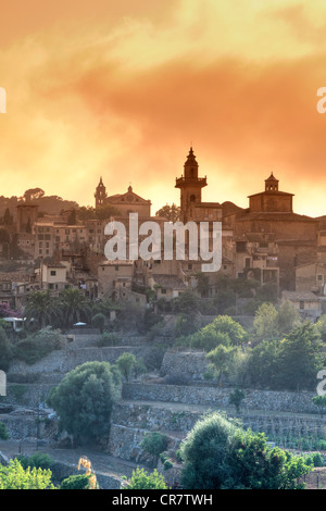 Spain, Balearic Islands, Mallorca, Valldemossa Mountain Village - Stock Photo