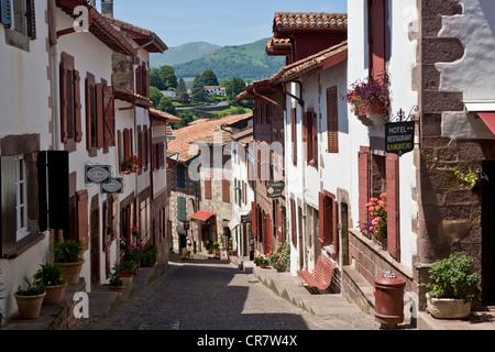 France, Pyrenees Atlantiques, St Jean Pied de Port - Stock Photo