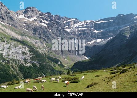 France, Hautes Pyrenees, Cirque de Gavarnie, UNESCO World Heritage - Stock Photo