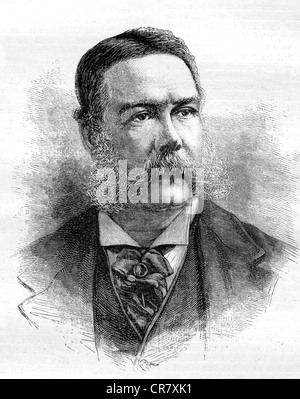 Chester A. Arthur, 1829 - 1886, 21st President of the United States of America, historical portrait, 1892 - Stock Photo