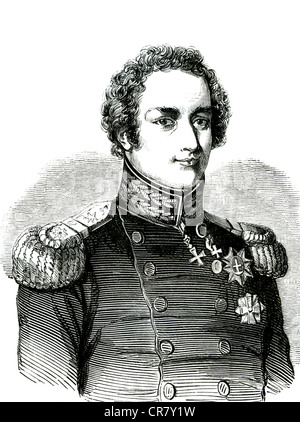 King Christian VIII of Denmark, European revolution of 1848, historical illustration, 1865 - Stock Photo