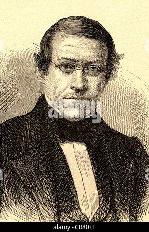 Sir Charles Wheatstone, British physician, 1802 - 1875, historical illustration, 1878 - Stock Photo