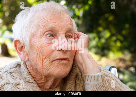 Senior Women in Wheelchair - Stock Photo