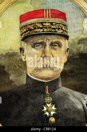 General Philippe Pétain, commander of the army in Verdun in First World War, historical illustration, 1918 - Stock Photo