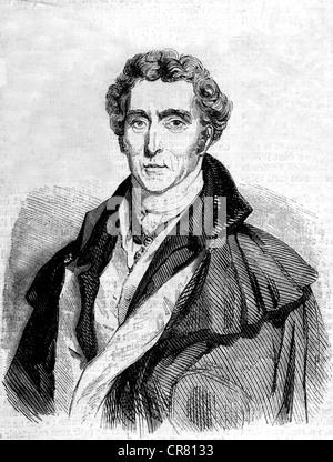 Arthur Wellesley, Duke of Wellington, 1769 - 1852, historical illustration, 1860 - Stock Photo