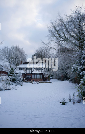 Cottage Garden In Winter Stock Photo Royalty Free Image