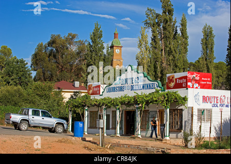 South Africa, Western Cape, Route 62, Garden Route, Little Karoo, Calitzdorp, grocery store - Stock Photo