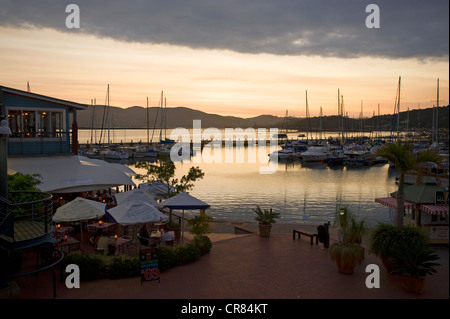 South Africa, Western Cape, Route 62, Garden Route, Knysna, the Waterfront and its restaurants