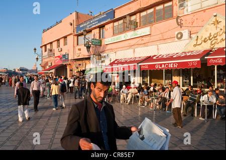 Morocco, High Atlas, Marrakesh, Imperial City, medina listed as World Heritage by UNESCO, Riad el Zitoun pedestrian - Stock Photo