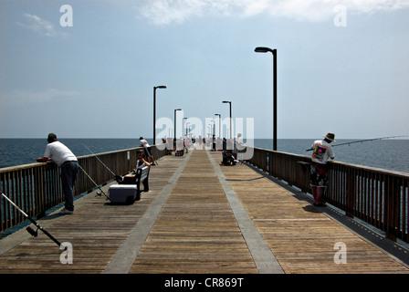 Gulf Shores State Park Alabama sport fishing pier - Stock Photo
