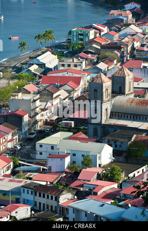 France, Martinique (French West Indies), St Pierre, cathedral of Notre Dame du Bon Port - Stock Photo