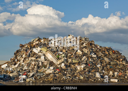 Scrap pile in scrap yard - Stock Photo