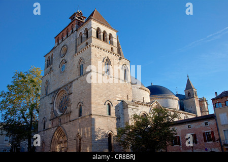 France, Lot, Cahors, St Etienne Cathedral - Stock Photo