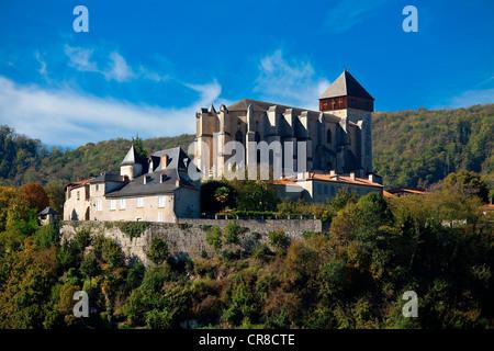 France, Haute Garonne, Saint Bertrand de Comminges, Saint Bertrand de Comminges Cathedral - Stock Photo