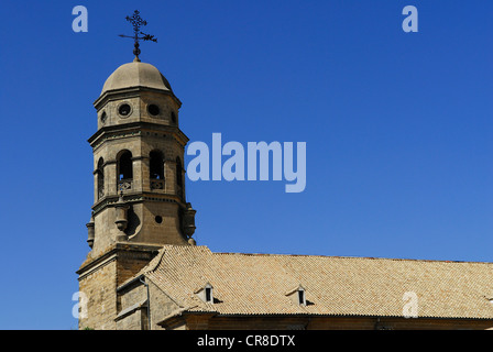 Spain, Andalusia, province of Jaen, Baeza, city UNESCO World Heritage, the bell tower of the cathedral - Stock Photo