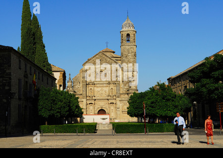 Spain Andalusia province of Jaen Ubeda city listed as World Heritage by UNESCO Vazquez de Molina Square Sacra Capilla - Stock Photo