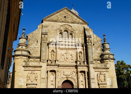 Spain, Andalusia, province of Jaen, Ubeda, city UNESCO World Heritage, Vazquez de Molina Square, Sacra Capilla del - Stock Photo