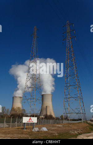 France, Drome, Tricastin, the nuclear power plant (NPP) - Stock Photo