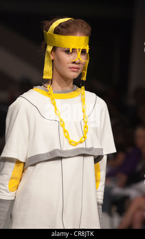Graduate Fashion Week 2012, Gala Catwalk Show, collection by Charli Cohen, Kingston University - Stock Photo