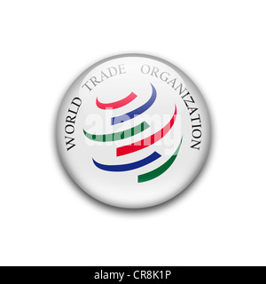 WTO  flag symbol icon logo emblem - Stock Photo