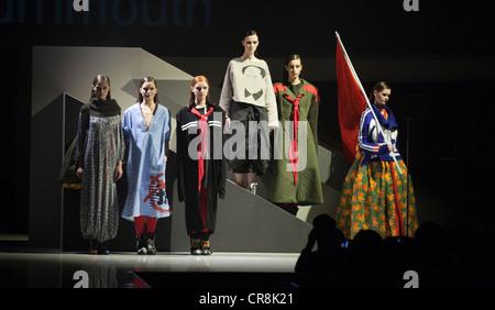 Graduate Fashion Week 2012, Gala Catwalk Show, collection by Ke Li, Bournemouth University - Stock Photo