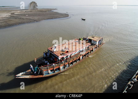 South asia , Bangladesh , ferry boat at Ganges river which is called Padma in Bangladesh - Stock Photo