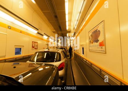 eurotunnel interior stock photo 20946003 alamy. Black Bedroom Furniture Sets. Home Design Ideas