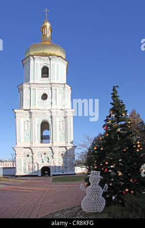 Ukraine. Saint Sophia Cathedral in Kiev. Bell tower - Stock Photo