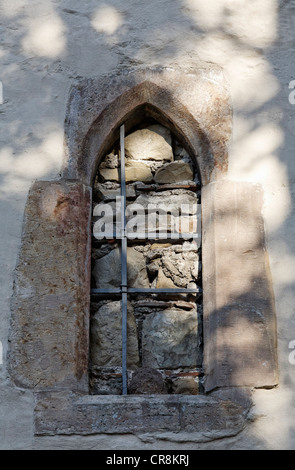 Walled-up window, Old Synagogue, Erfurt, Thuringia, Germany, Europe - Stock Photo