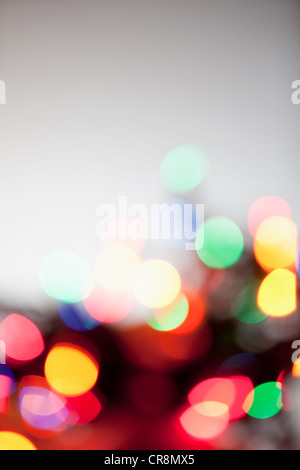 Defocussed multi colored lights - Stock Photo