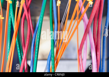 Cables in server room - Stock Photo