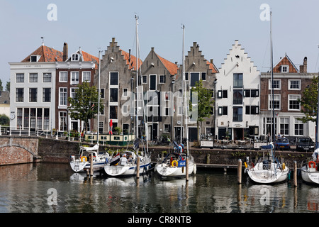 Historic warehouses at Kinderdijk, Middelburg, Walcheren, Zeeland, Netherlands, Europe - Stock Photo