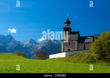 Antonikapelle chapel in Au near Lofer, Pinzgau region, Salzburger Land, Austria, Europe - Stock Photo