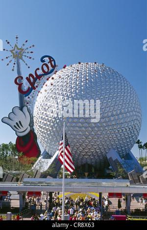 Epcot Center, theme park, Disneyland, Orlando, Florida, USA - Stock Photo