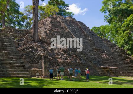 Maya ruins, Copan, UNESCO World Heritage site, Honduras - Stock Photo