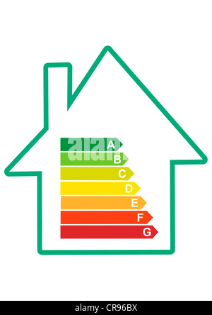 EU energy efficiency label, an indicator of the consumption of electrical devices - Stock Photo