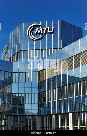 Building, MTU Aero Engines, Munich, Bavaria, Germany, Europe - Stock Photo