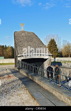 Jewish memorial in the concentration camp grounds, Dachau near Munich, Bavaria, Germany, Europe - Stock Photo