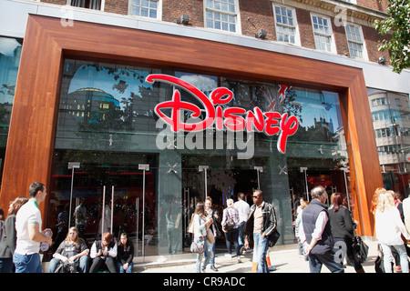The Disney store on Oxford Street, London, England, U.K. - Stock Photo
