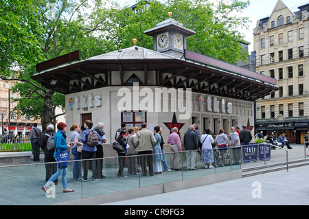 Leicester Square Clocktower Building home of tkts theatre ticket booth box office - Stock Photo