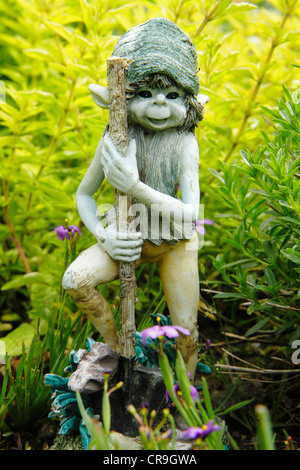 Ornamental garden pixie. - Stock Photo