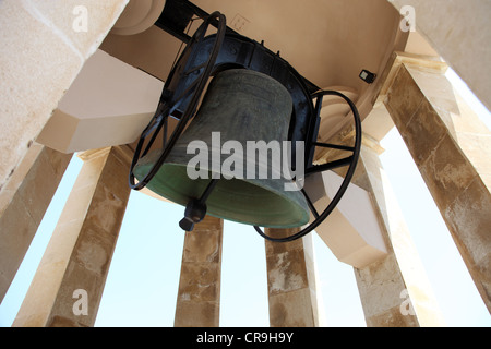 Great bell in the Memorial to the WW2 Siege of Malta - Stock Photo