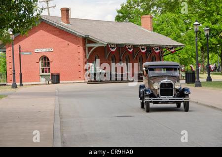 Michigan, Wyandotte. Greenfield Village, Vintage Ford automobile. - Stock Photo