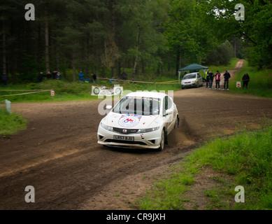 The Rainworth Skoda Dukeries Rally 2012 in Sherwood Forest, Nottinghamshire - Stock Photo