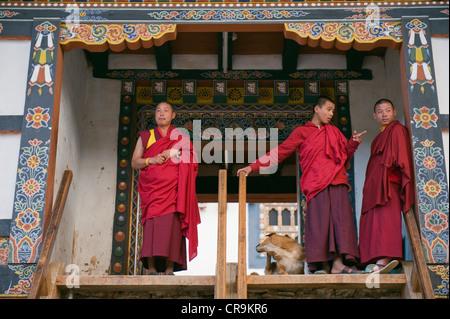 GangteyGompaMonastery, Phobjikhavalley, Bhutan, Asia - Stock Photo