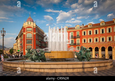 Place Massena in downtown Nice on the French Riviera (Cote d'Azur) - Stock Photo