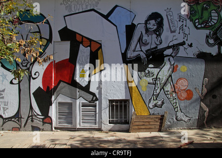 Street art in the Palermo neighborhood of Buenos Aires, Argentina. - Stock Photo