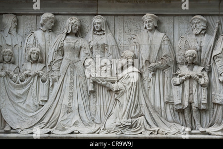 Supreme court stone carvings. London. England - Stock Photo