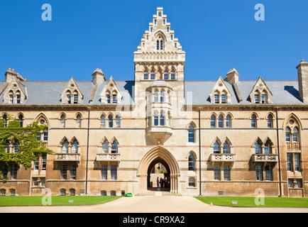 Christ Church college Meadow building Oxford University Oxfordshire England UK GB EU Europe - Stock Photo