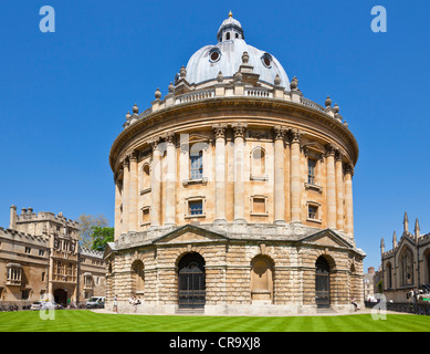 Radcliffe Camera walls of Brasenose and All Souls Colleges and rooftops of the University city of Oxford, Oxfordshire, - Stock Photo